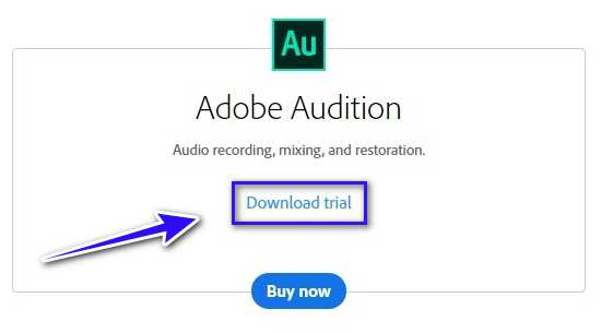 Download adobe audition free trial