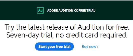 adobe audition free trial