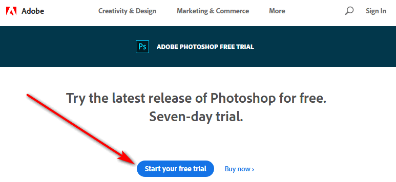 Download Photoshop free trial