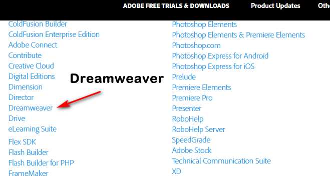 dreamweaver free trial