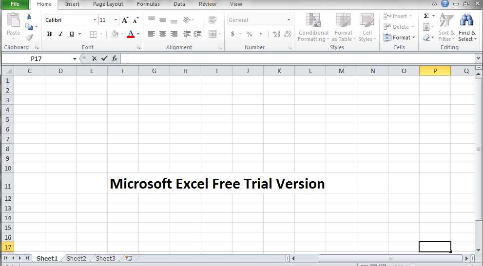 excel free trial