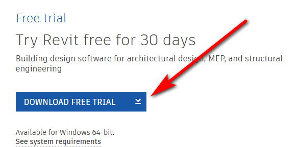 Download Revit Free Trial