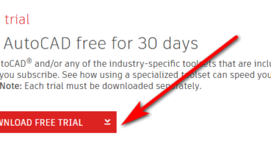 Downloading Autocad free trial