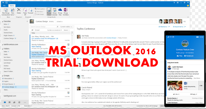 MS Outlook 2016 Trial Download for Mac And Windows » Trial Software