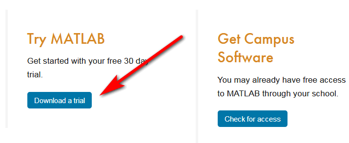 Try Matlab for free