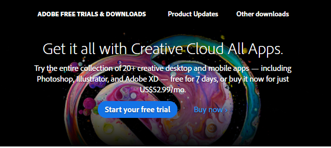Adobe Creative Cloud free trial