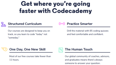 Codecademy Pro features