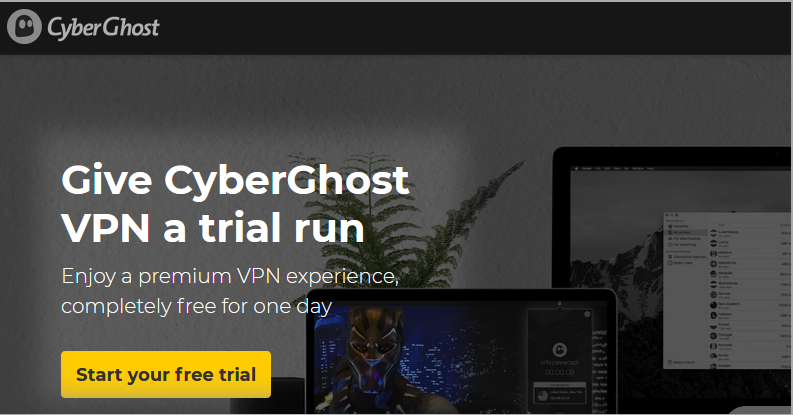 cyberghost free trial