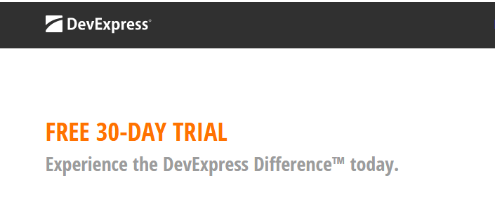 free 30 day DevExpress trial download