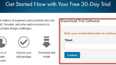 matlab free trial - sign up page