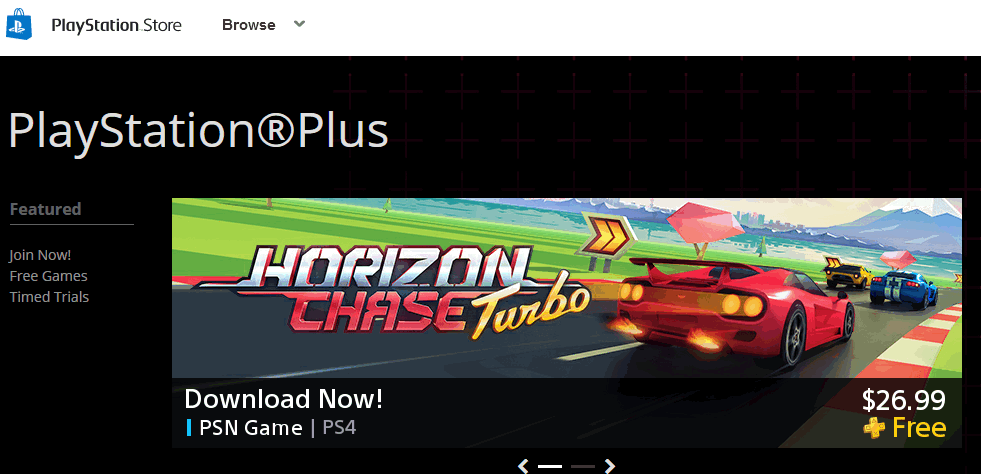 PlayStation Plus website
