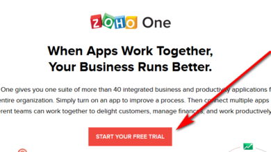 sign up to Zoho CRM trial