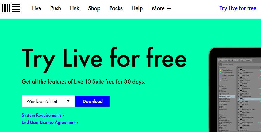 Ableton free trial