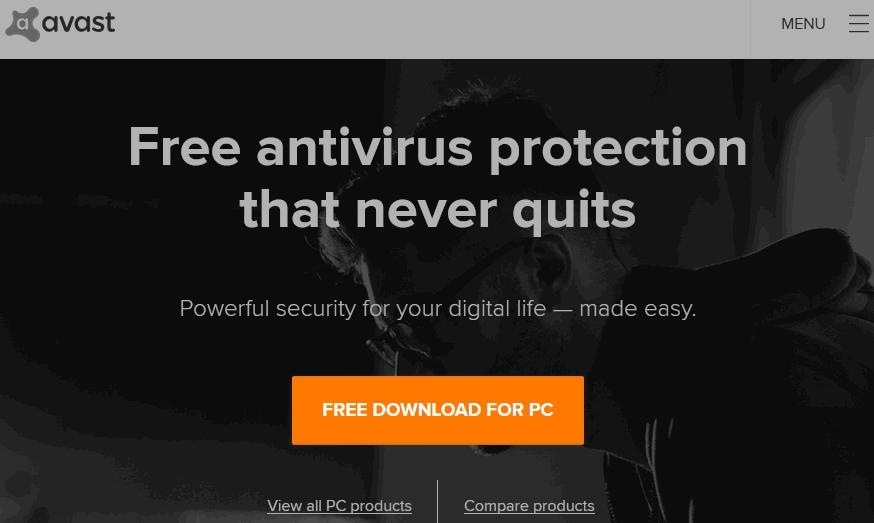 Avast Free Trial Antivirus Download for Mac/Windows 10,7