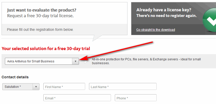 Avira free trial