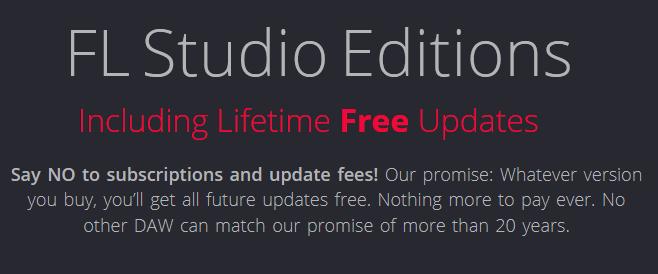 FL Studio lifetime free updates