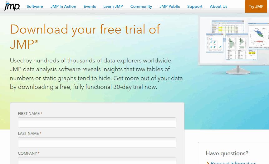 JMP free trial download