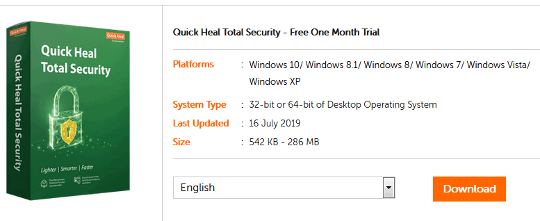 Quick Heal antivirus trial version