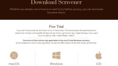 Scrivener Free Trial