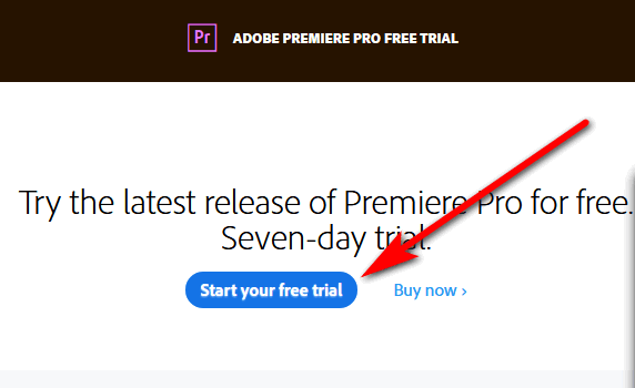 Starting your Adobe Premier free trial
