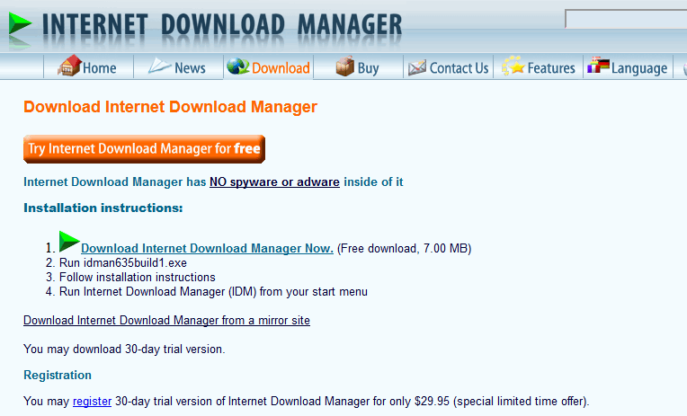 Internet Download Manager Free Trial (Windows 7, 10, 8.1) Full Version