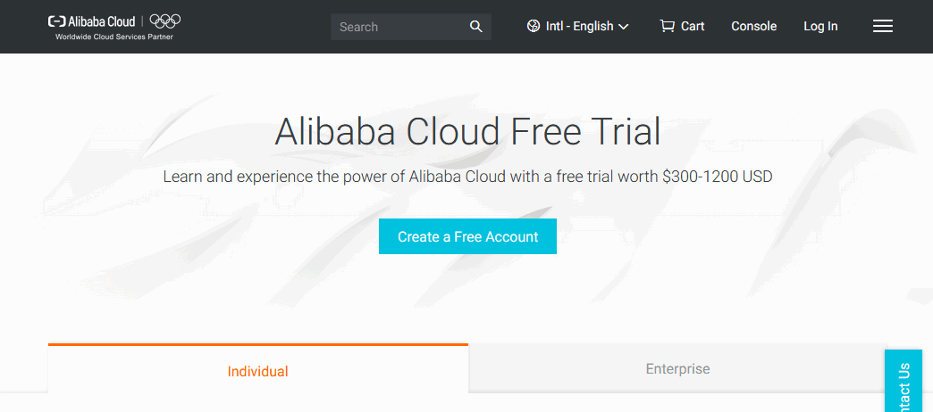 Alibaba Cloud free trial