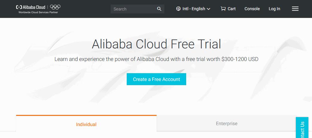Alibaba Cloud free trial