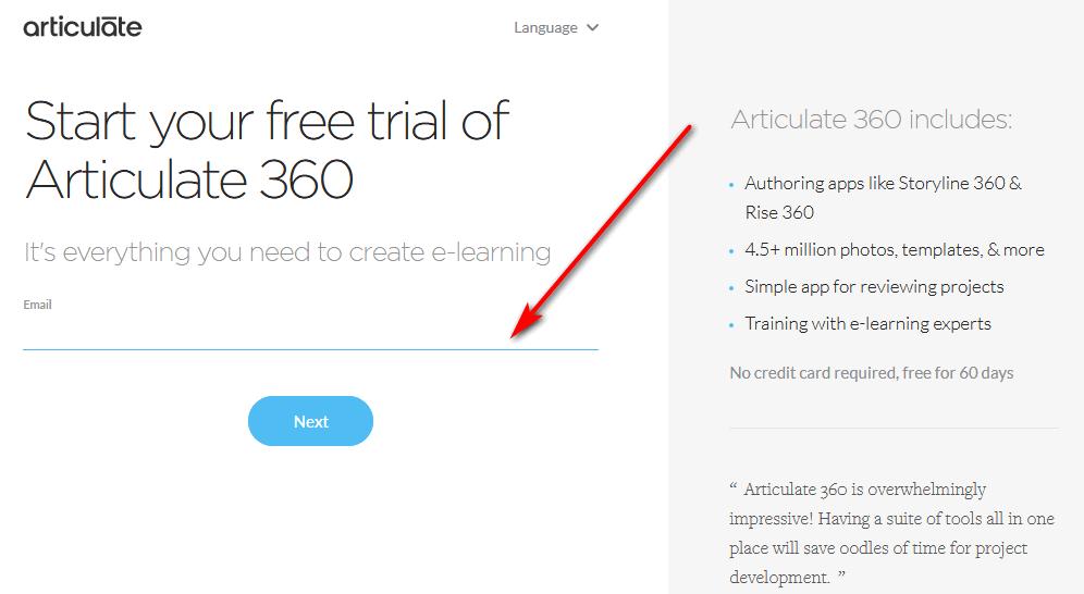 Articulate free trial