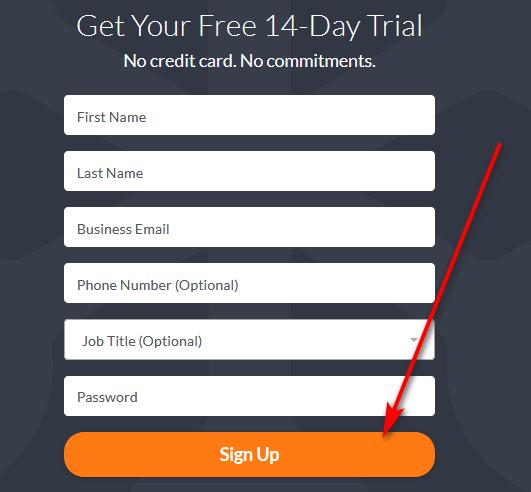 GoToMeeting free trial form