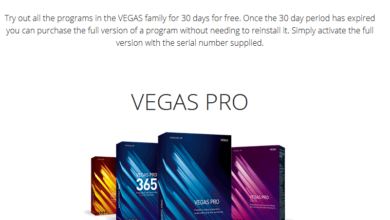 Vegas Pro free trial