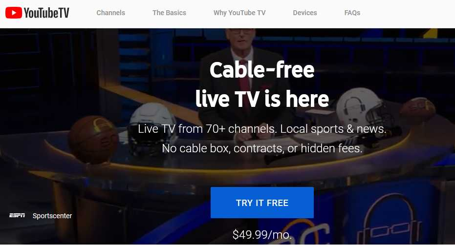 YouTube TV free trial