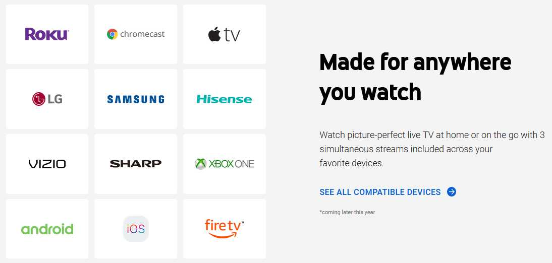 free trial of YouTube TV supported devices