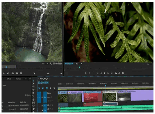 Premiere Pro Editing Interface