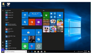 Windows 10 Interface shot